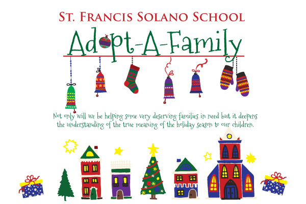 Adopt A Family For Christmas.Holiday Adopt A Family St Francis Solano School