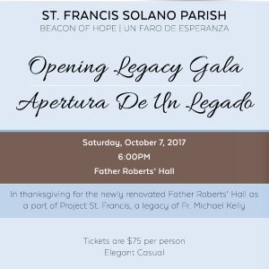 St. Francis Solano Father Roberts Hall Gala