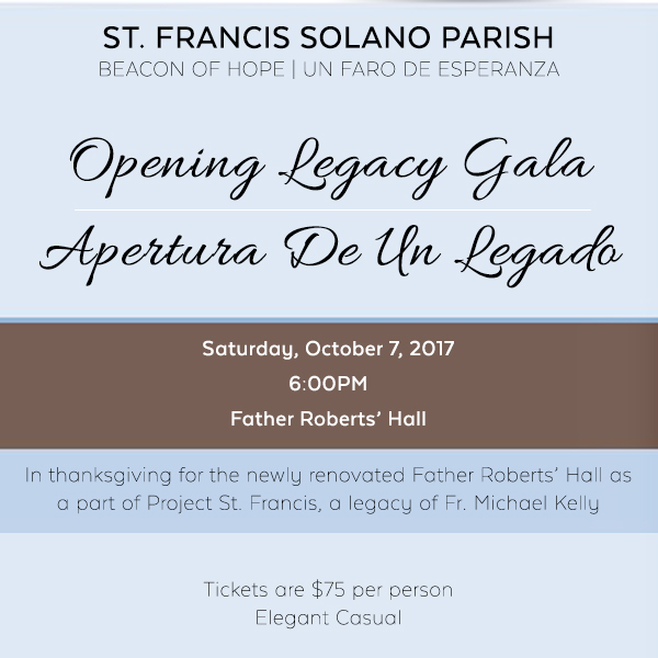 Father Roberts' Hall Re-opening Party