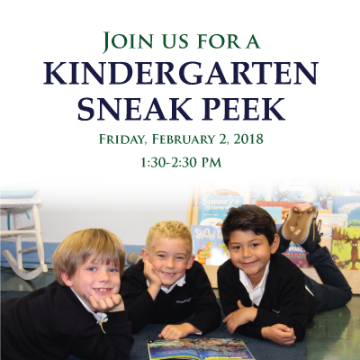 Visit our Kinder Sneak Peek on Friday, February 2nd!