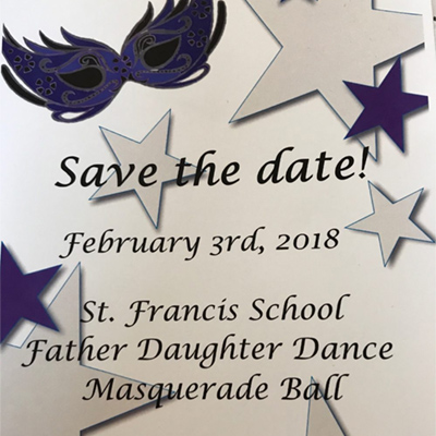 Save the Date for the Father Daughter Dinner Dance!
