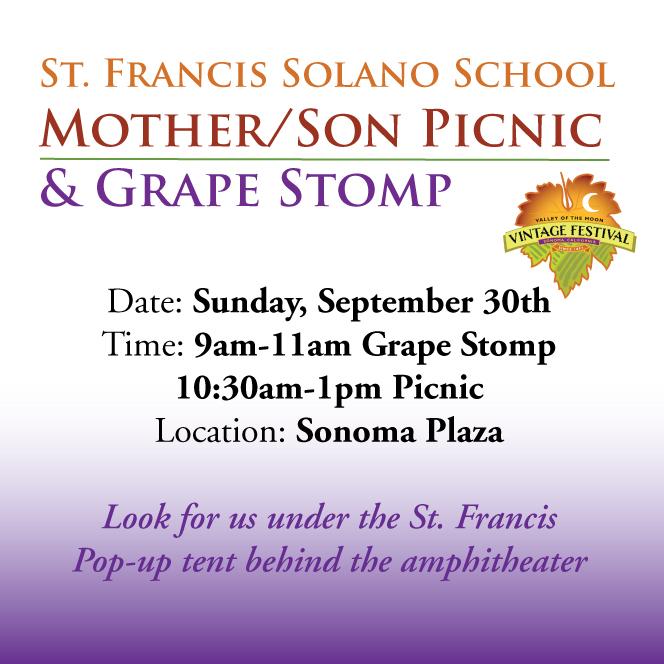 Mother/Son Picnic & Grape Stomp