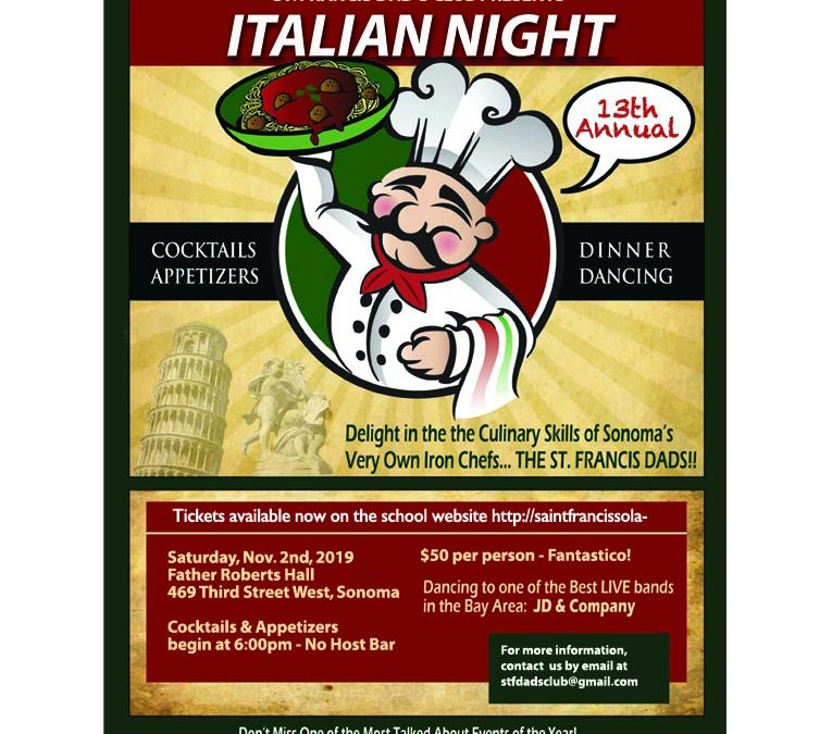Italian Night 2019 – Tickets are on sale NOW!