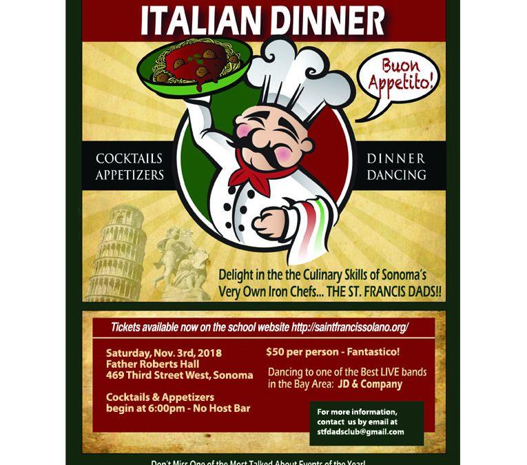 Italian Night – November 3rd!
